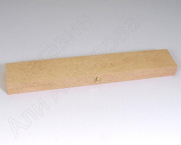 """Подарочный деревянный футляр для кавказского кинжала """"Ирбис"""" бежевый"""