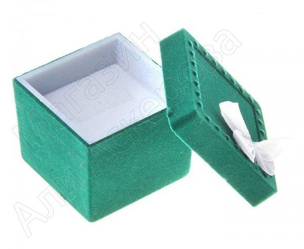 """Подарочный футляр для кольца """"Зеленый квадрат"""""""