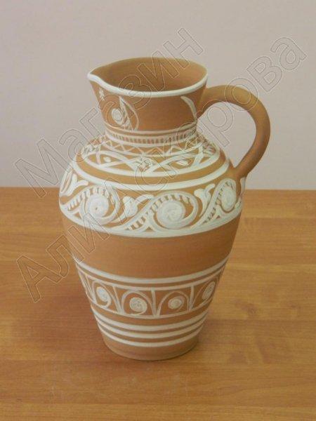 Глиняный кувшин для воды ручной работы