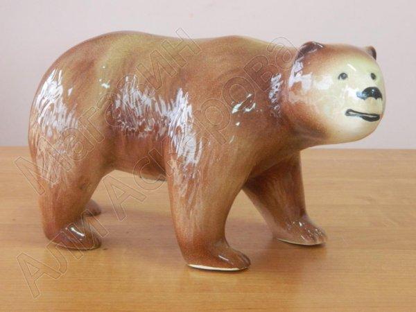 """Глиняный """"Бурый медведь"""" ручной работы"""