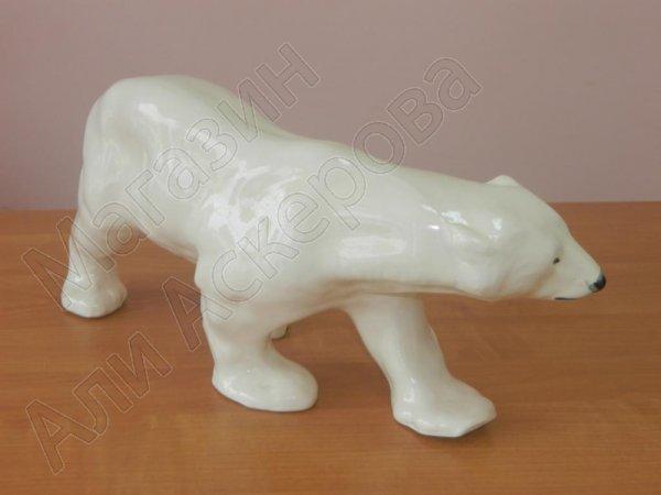 """Глиняный """"Белый медведь"""" ручной работы"""