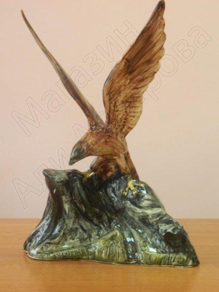 """Глиняная статуэтка """"Орел на скале"""" ручной работы"""