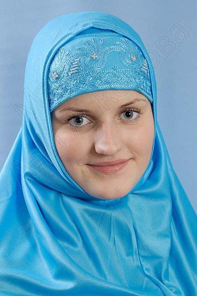 """Мусульманский хиджаб-двойка """"Сафира"""" с вышивкой"""