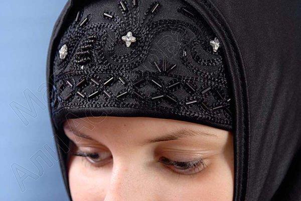 """Мусульманский хиджаб-двойка """"Лейли"""" с вышивкой"""