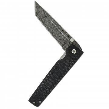 Складной нож Танто (дамасская сталь, рукоять G10)