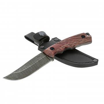 Нож Визирь (дамасская сталь, рукоять стабилизированный граб)