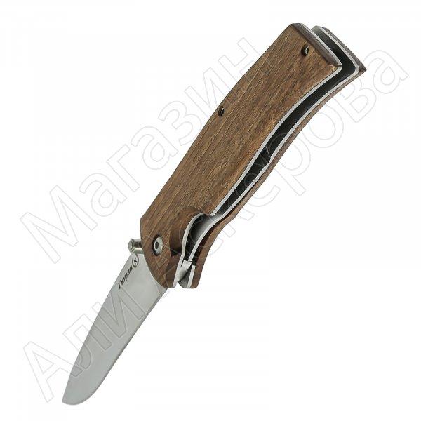 Кизлярский нож складной Гюрза (сталь Х50CrMoV15, рукоять орех)