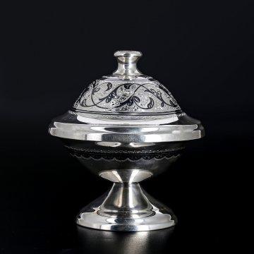 Серебряная икорница