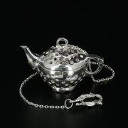 """Серебряное сито для чая """"Кубачи"""" ручной работы арт.10321"""