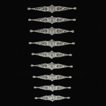 Нагрудники ручной работы на женский костюм (9 элементов)