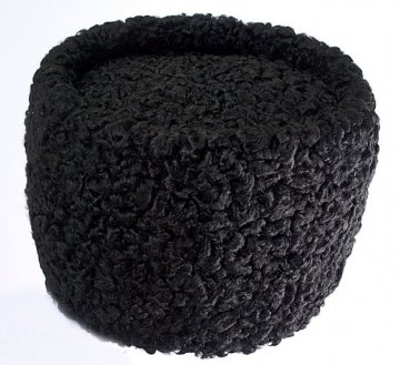 Мужская каракулевая папаха ручной работы черная (сорт - чистопородный пулат)