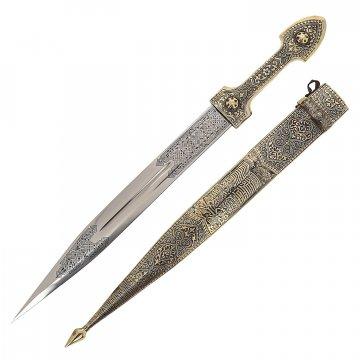 Кавказский кинжал Ирбис №1 (ножны – мельхиор)