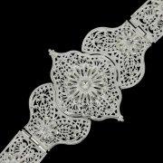 Кавказский свадебный пояс ручной работы мастера Чермена Ахмедова (филигрань) арт.4646