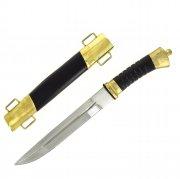 Нож пластунский сталь 95Х18 (латунь, в наборе - подвес и чехол)