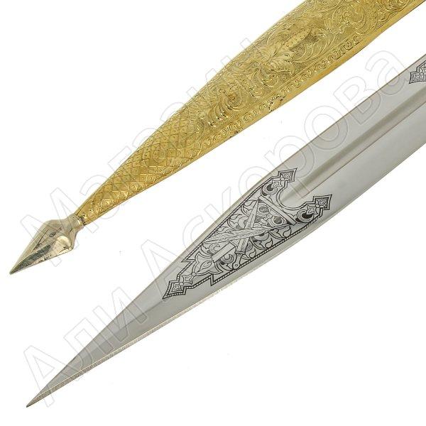Кавказский кинжал Ирбис №2 (ножны латунь)