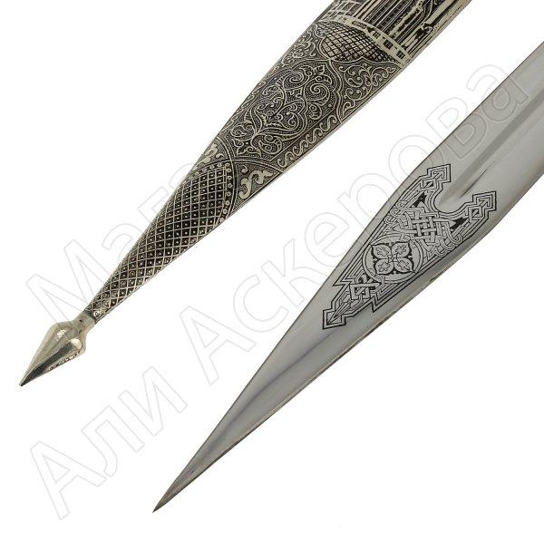 Кавказский кинжал Куль-Шариф (ножны мельхиор)