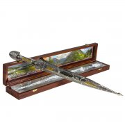 Кубачинский подарочный набор в футляре (кинжал с позолоченными вставками) арт.6842