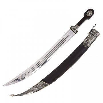 Кинжал Бебут (ножны мельхиор, натур. кожа)