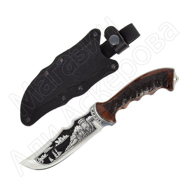 Туристический нож Каспий (сталь 65Х13, рукоять дерево)