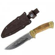 "Кизлярский нож туристический ""Беркут"" (сталь - 65Х13, рукоять - дерево) арт.2326"