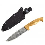 Туристический нож Зодиак (сталь 65Х13, рукоять дерево) арт.2330