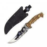 Разделочный нож большой Медведь (сталь 65Х13, рукоять дерево)