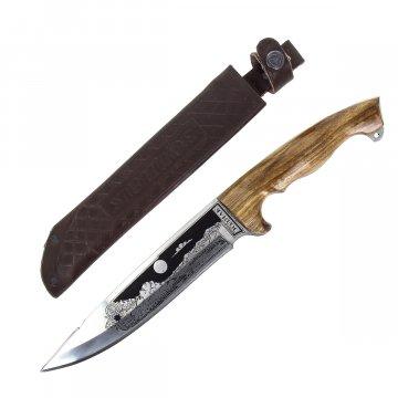 Разделочный нож большой Зодиак (сталь 65Х13, рукоять дерево)