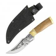 Разделочный нож Аллазал (сталь Х12МФ, рукоять дерево)