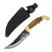 Разделочный нож Гюрза (сталь Х12МФ, рукоять дерево)