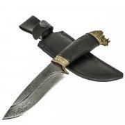 Кизлярский нож разделочный Секач (дамасская сталь, рукоять черный граб) арт.11836