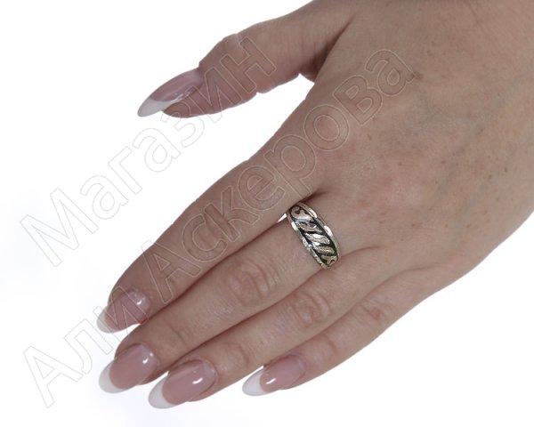 """Кубачинское серебряное кольцо ручной работы """"Восхищение"""""""