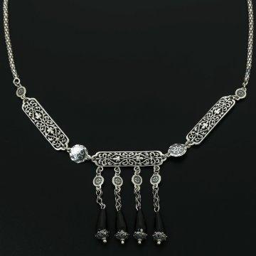 Серебряное колье (агат)