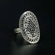 Кубачинское серебряное кольцо с филигранью ручной работы арт.10454