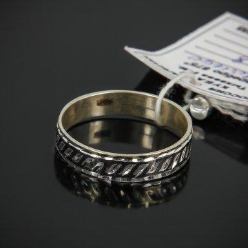 Кубачинское серебряное кольцо с чернением ручной работы