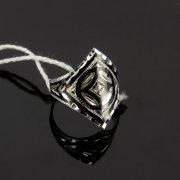 Кубачинское серебряное кольцо с чернением ручной работы арт.7828