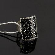 Кубачинское серебряное кольцо с чернением ручной работы арт.7829