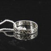Кубачинское серебряное кольцо с чернением ручной работы арт.7832