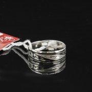 Кубачинское серебряное кольцо с чернением ручной работы арт.7835