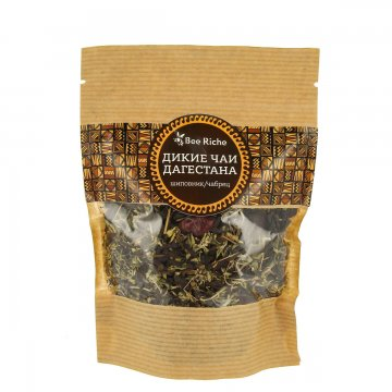 Дикий чай Дагестана (шиповник, чабрец)