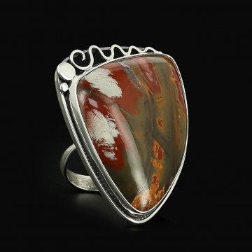Серебряное кольцо (яшма)