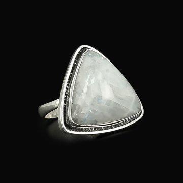 Серебряное кольцо Лунная соната авторская работа (лунный камень)