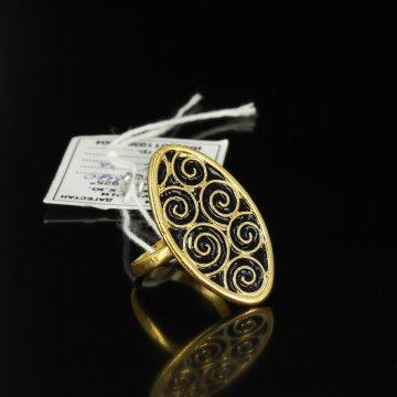 Кубачинское серебряное кольцо ручной работы