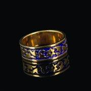 Кубачинское серебряное кольцо с эмалью ручной работы арт.8710