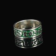 Кубачинское серебряное кольцо с эмалью ручной работы арт.8712
