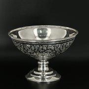 Серебряная конфетница Кубачи ручной работы арт.9824