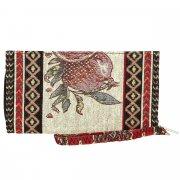 Кошелек в этно стиле из ткани ручной работы