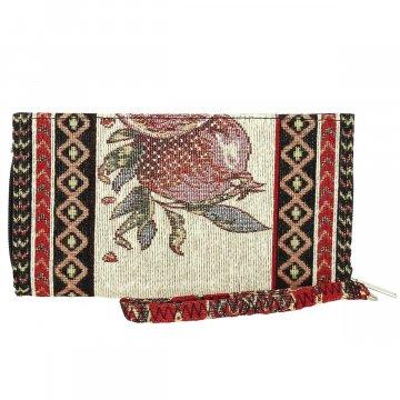 Кошелек в этно стиле из ткани (20х11 см)