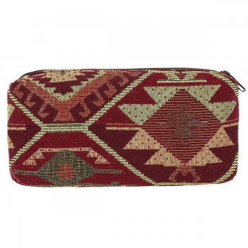 Косметичка в этно стиле из ткани (21х11 см)