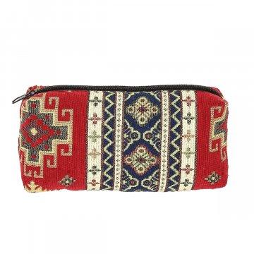 Косметичка в этно стиле из ткани (18х9 см)