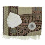 Молитвенный набор (коврик дорожный с компасом, тюбетейка) арт.9615